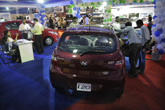 ICT  Fair in Kolkata. KOLKATA- FEBRUARY 20: A view of different household cars at display ,during the Information and Communication Technology (ICT) conference Stock Image