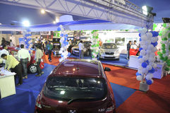 ICT  Fair in Kolkata. KOLKATA- FEBRUARY 20: A view of different household cars at display ,during the Information and Communication Technology (ICT) conference Stock Photos