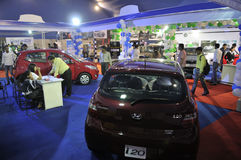 ICT  Fair in Kolkata. KOLKATA- FEBRUARY 20: A view of different household cars at display ,during the Information and Communication Technology (ICT) conference Stock Images