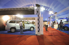 ICT  Fair in Kolkata. KOLKATA- FEBRUARY 20: A view of different household cars at display ,during the Information and Communication Technology (ICT) conference Stock Photography