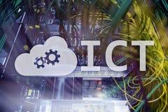 ICT - informaci i technologii komunikacyjnej pojęcie na serweru pokoju tle Zdjęcie Stock
