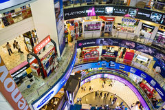ICT Shopping Crowd. Image of people shopping at a shopping centre specializing in information and communication technology (ICT) products and equipment, in Kuala Stock Image