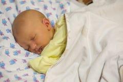 Icterícia em um bebê recém-nascido Fotos de Stock