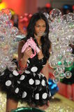 Ictoria's Secret Fashion Show model walks the runway during the 2010 Victoria's Secret Fashion Show Stock Photography