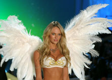Ictoria's Secret Fashion Show model walks the runway during the 2010 Victoria's Secret Fashion Show Royalty Free Stock Photo