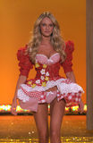 Ictoria's Secret Fashion Show model walks the runway during the 2010 Victoria's Secret Fashion Show Stock Images