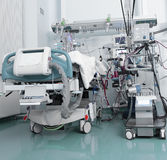 ICU with serious patient stock image