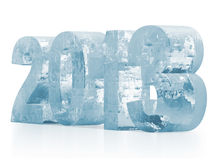 Icy 2013. On white background Royalty Free Stock Image