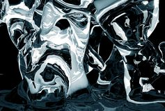 Icy Abstract. Abstract Dark Blue Icy Shapes. Cool Glassy-Ice Abstract Background Stock Images