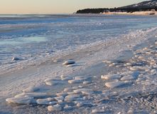 Icy Alaskan beach Royalty Free Stock Images