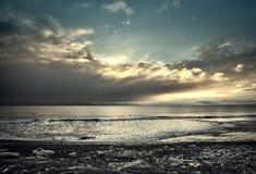 Icy Alaskan Beach at Sunset Royalty Free Stock Photo