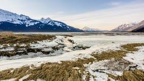Icy Alaskan Beah Stock Photography
