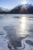 Icy Alaskan Sunset Stock Photography