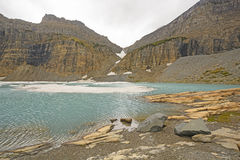 Icy Alpine Lake in the Fall Stock Image