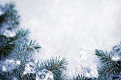 Icy background Stock Photo