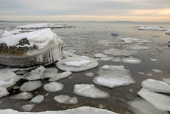 Icy Baltic Coast Royalty Free Stock Photography