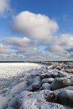 Icy Baltic coast. Stock Photo