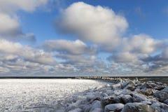Icy Baltic coast. Stock Image