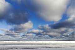 Icy Baltic coast. Royalty Free Stock Photo