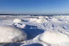 Icy Baltic coast. Royalty Free Stock Images