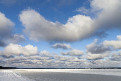 Icy Baltic coast. Royalty Free Stock Photography