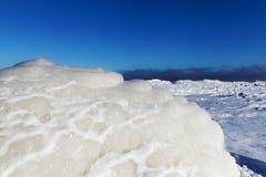 Icy Baltic coast. Royalty Free Stock Photos