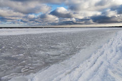 Icy Baltic coast. Stock Image