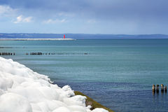 Icy Baltic sea coast at winter time Stock Image