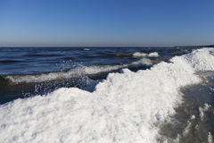 Icy Baltic sea. Royalty Free Stock Image
