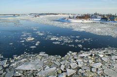 Icy Baltic sea near Helsinki Royalty Free Stock Photography