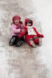 icy barnnedstigning arkivfoton
