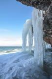 Icy beskåda royaltyfria bilder