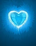 icy blå kall hjärta royaltyfri illustrationer