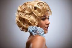 Icy blonde. Stock Photos