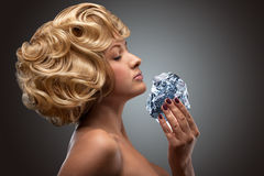 Icy blonde. Royalty Free Stock Image