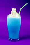 Blue milk shake Stock Photo