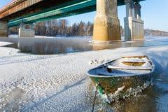 Icy boat Royalty Free Stock Photos