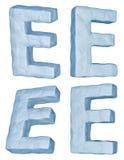 icy bokstav för e vektor illustrationer
