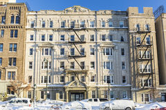 Icy Brooklyn Apartment Building Royalty Free Stock Photos