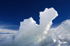 Icy Camel. Ice Hummocks near Ross Island, Antarctica Stock Photo