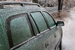 Icy car Royalty Free Stock Photos