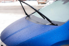 Icy car in the winter. Stock Photography