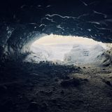 Iceland cave royalty free stock photo