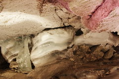 An icy cave is in the Perm edge Royalty Free Stock Photo