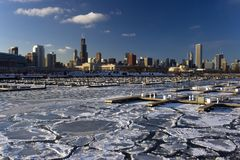 Icy CHicago stock images
