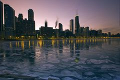 icy chicago royaltyfri fotografi