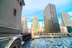 Icy Chicago River Stock Photography
