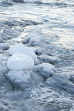 Icy coast of Antarctica. Winter ice-covered coast of Antarctica Royalty Free Stock Photography