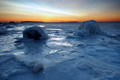 Icy coastline Royalty Free Stock Photography
