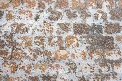 Icy cobblestone pavement Royalty Free Stock Photography